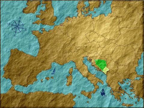 Bosnie, en foncé